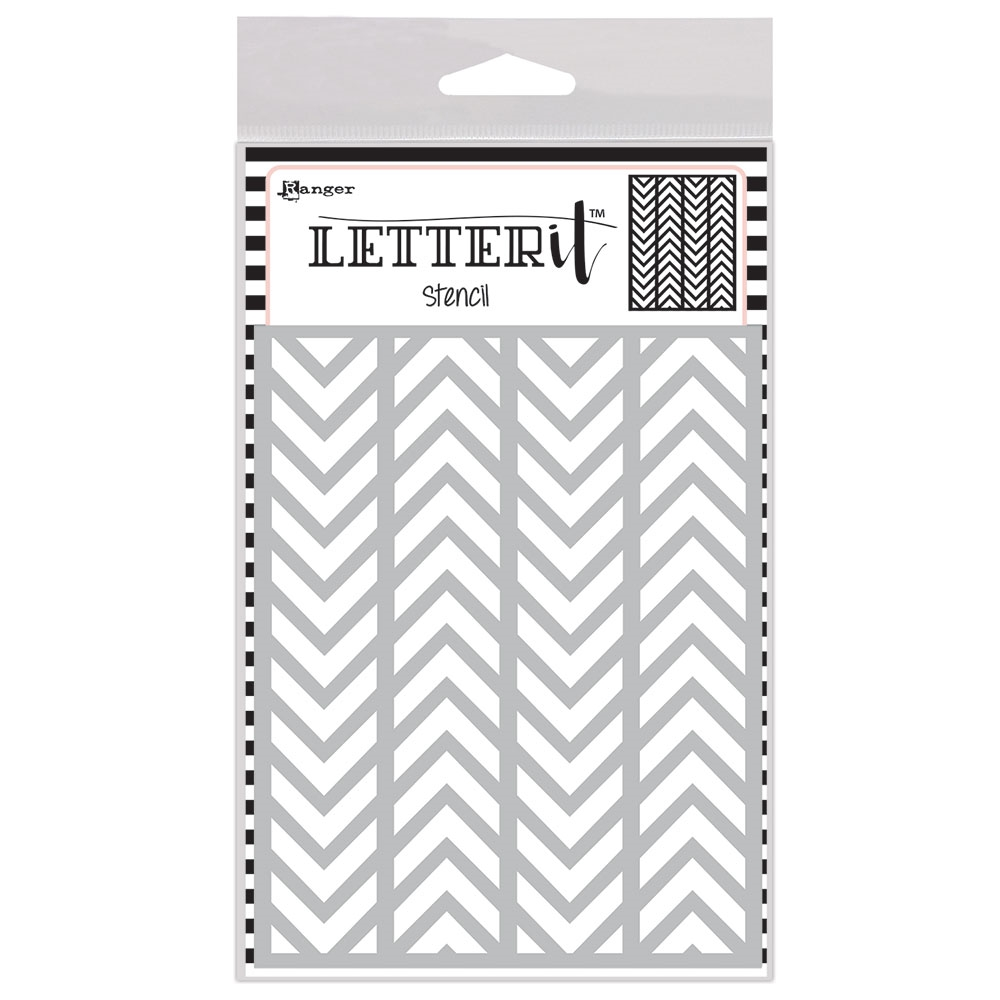 Ranger ALTERNATING CHEVRONS Letter It Stencil let63025 zoom image