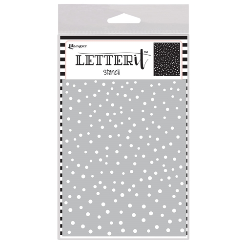 Ranger DANCING DOTS Letter It Stencil let63032 Preview Image