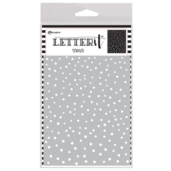 Ranger DANCING DOTS Letter It Stencil let63032