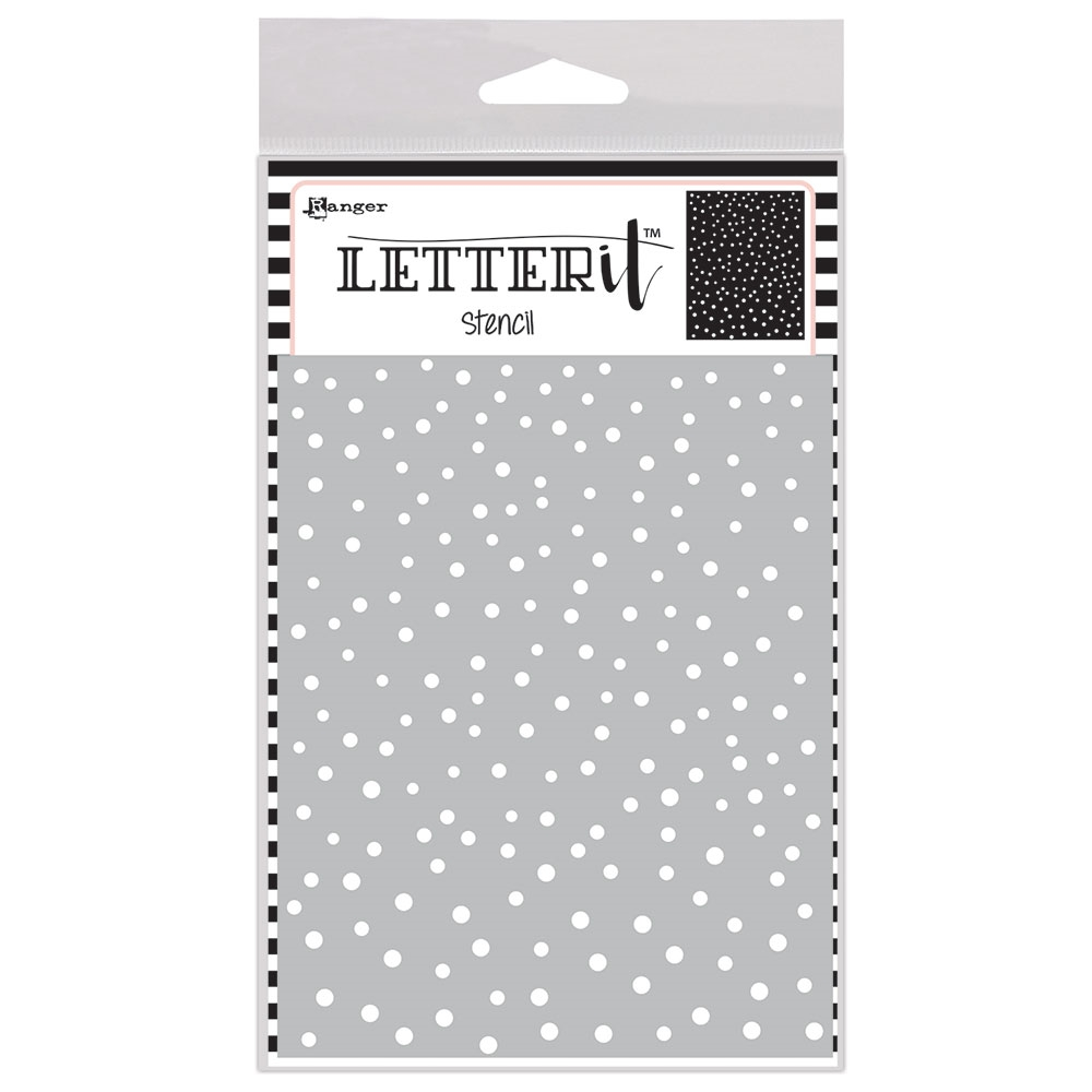 Ranger DANCING DOTS Letter It Stencil let63032 zoom image