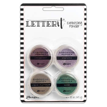 Ranger GRACEFUL EMBOSSING POWDER SET Letter It lep64268
