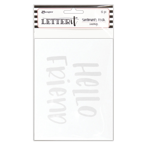 Ranger GREETINGS Letter It Sentiment Pack lea65272 Preview Image