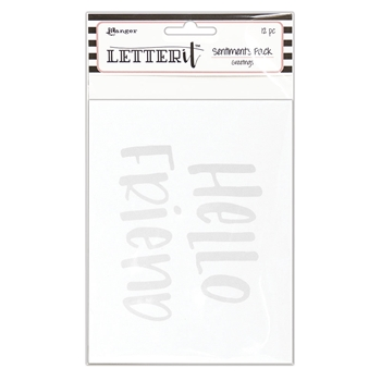Ranger GREETINGS Letter It Sentiment Pack lea65272