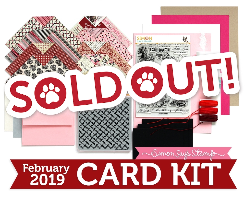 Simon Says Stamp Card Kit of The Month FEBRUARY 2019 LOVE ALWAYS ck0219 Preview Image