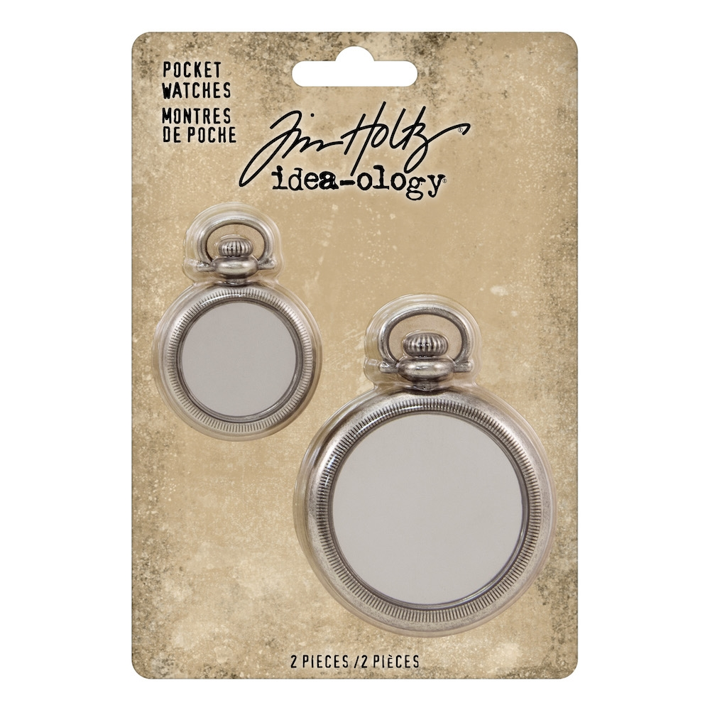 RESERVE Tim Holtz Idea-ology POCKET WATCHES th93960 zoom image