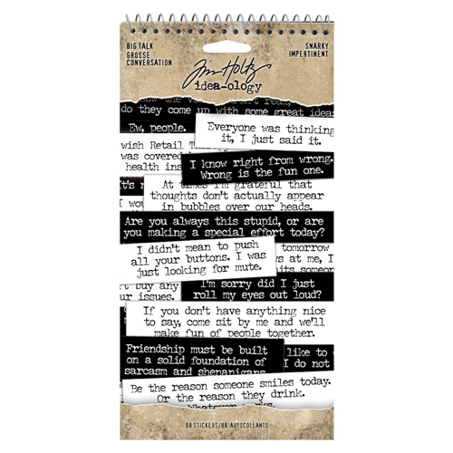 RESERVE Tim Holtz Idea-ology BIG TALK SNARKY th93797 Preview Image