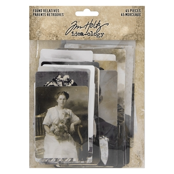 Tim Holtz Idea-ology FOUND RELATIVES th93798