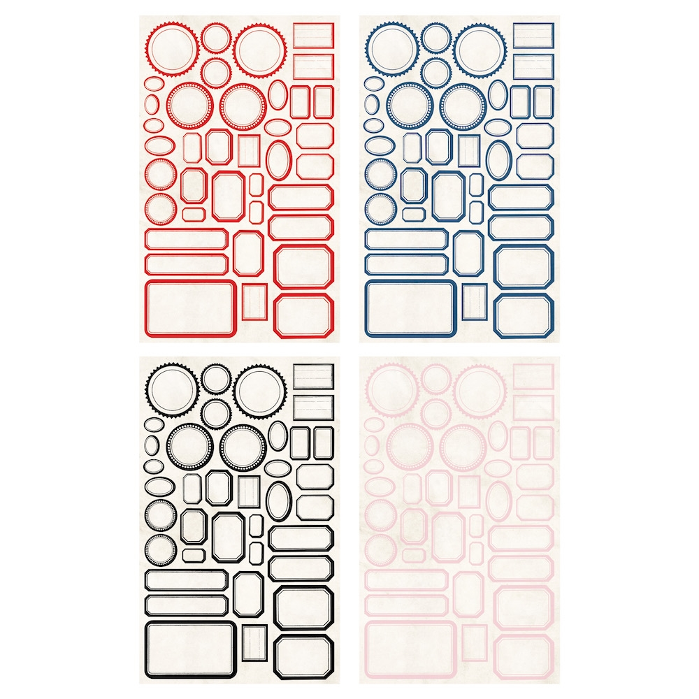 RESERVE Tim Holtz Idea-ology CLASSIC LABEL STICKERS th93959 zoom image