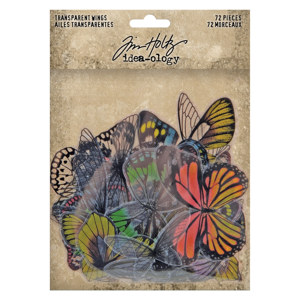 RESERVE Tim Holtz Idea-ology TRANSPARENT WINGS th93785 zoom image