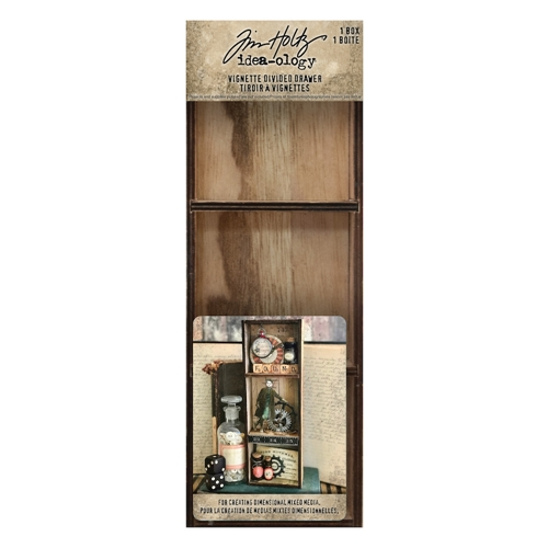 RESERVE Tim Holtz Idea-ology VIGNETTE DIVIDED DRAWER th93793 Preview Image