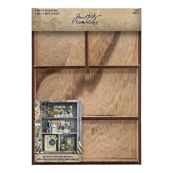 RESERVE Tim Holtz Idea-ology VIGNETTE DIVIDED BOX th93794