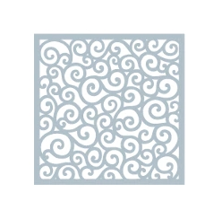 Gina K Designs ROUNDED SWIRL Stencil 2090
