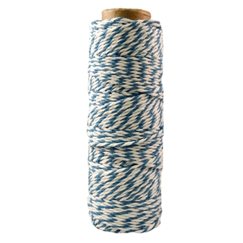May Arts TURQUOISE Baker's Twine Twisted Ribbon 41294