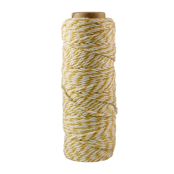 May Arts YELLOW Baker's Twine Twisted Ribbon 41227
