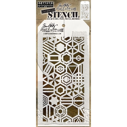 Tim Holtz Layering Stencil PATCHWORK HEX THS125 Preview Image
