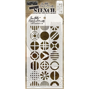 RESERVE Tim Holtz Layering Stencil PATCHWORK CIRCLE THS124