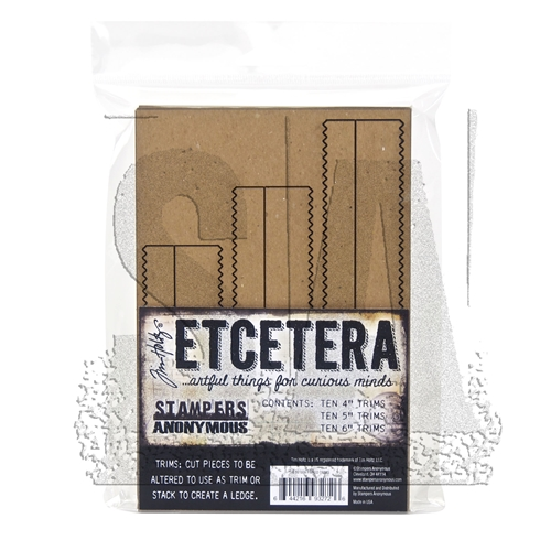 Tim Holtz Etcetera PINKED TRIMS Chipboard THETC-009 Preview Image