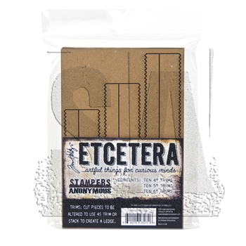 RESERVE Tim Holtz Etcetera PINKED TRIMS Chipboard THETC-009