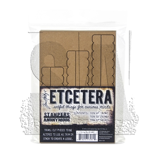 RESERVE Tim Holtz Etcetera SCALLOP TRIMS Chipboard THETC-008 Preview Image