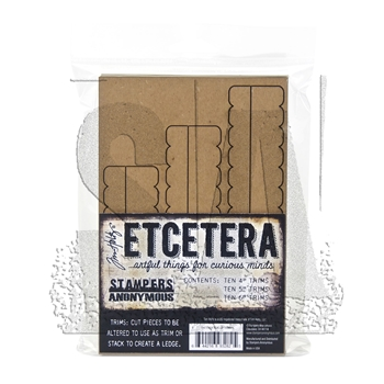 RESERVE Tim Holtz Etcetera SCALLOP TRIMS Chipboard THETC-008