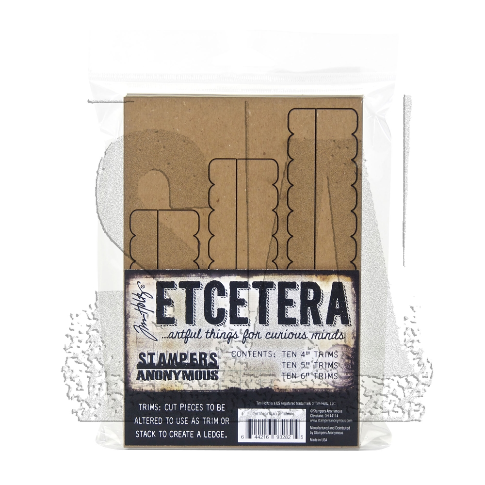 RESERVE Tim Holtz Etcetera SCALLOP TRIMS Chipboard THETC-008 zoom image