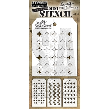 RESERVE Tim Holtz Shifter MINI STENCIL SET 40 MST040