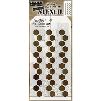 RESERVE Tim Holtz Layering Stencil SHIFTER HEX THS121