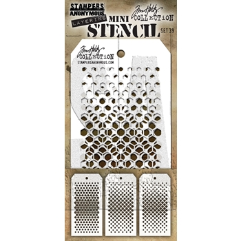RESERVE Tim Holtz MINI STENCIL SET 39 MST039