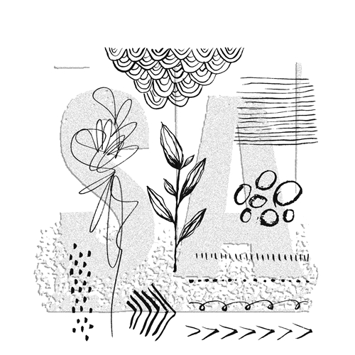 Tim Holtz Cling Rubber Stamps 2019 MEDIA MARKS 1 CMS362 Preview Image