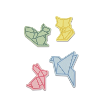 Sizzix ORIGAMI STYLE ANIMALS Thinlits Die Set 663319
