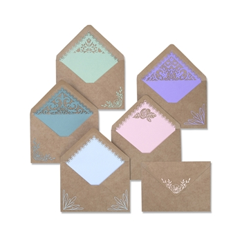 Sizzix ENVELOPE LINERS INTRICATE Thinlits Die Set 663586