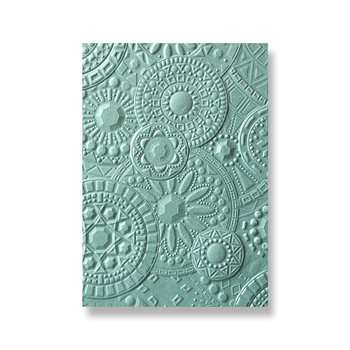 Sizzix Textured Impressions MOSAIC GEMS 3D Embossing Folder 663206