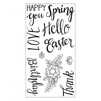 Sizzix Clear Stamps SPRING PHRASES 663587