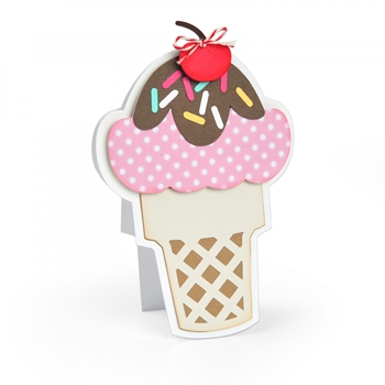 Sizzix ICE CREAM FOLD ITS Framelits Die Set 664114