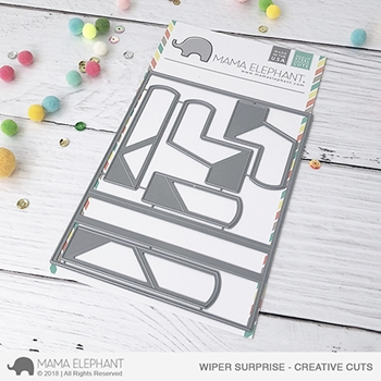 Mama Elephant WIPER SURPRISE Creative Cuts Steel Dies