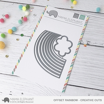 Mama Elephant OFFSET RAINBOW Creative Cuts Steel Dies