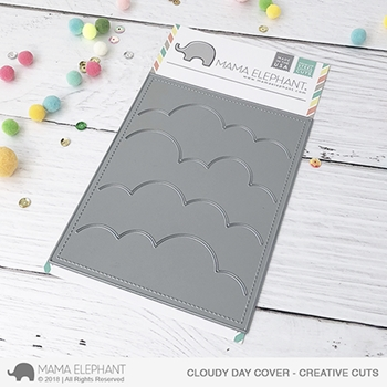 Mama Elephant CLOUDY DAY COVER Creative Cuts Steel Dies