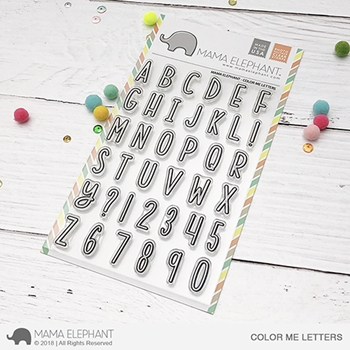 Mama Elephant Clear Stamps COLOR ME LETTERS