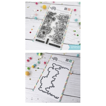 Mama Elephant Clear Stamp and Die MEPT579 Wild Meadow SET