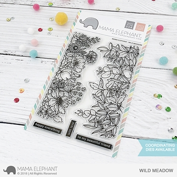 Mama Elephant Clear Stamps WILD MEADOW