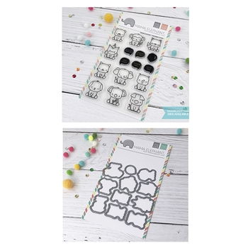 Mama Elephant Clear Stamp and Die MEPT576 Stackable Cuties SET