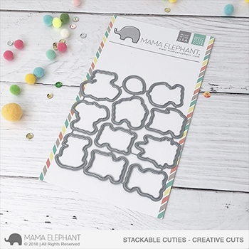 Mama Elephant STACKABLE CUTIES Creative Cuts Steel Dies