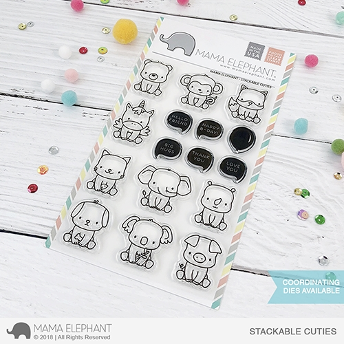 Mama Elephant Clear Stamps STACKABLE CUTIES Preview Image