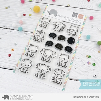 Mama Elephant Clear Stamps STACKABLE CUTIES