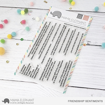 Mama Elephant Clear Stamps FRIENDSHIP SENTIMENTS