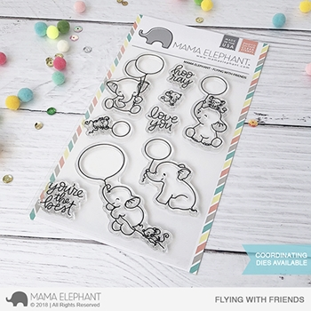Mama Elephant Clear Stamps FLYING WITH FRIENDS