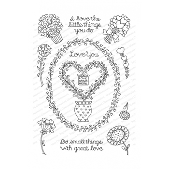 Pink Ink for Impression Obsession Clear Stamps LOVE GROWS HERE CL902