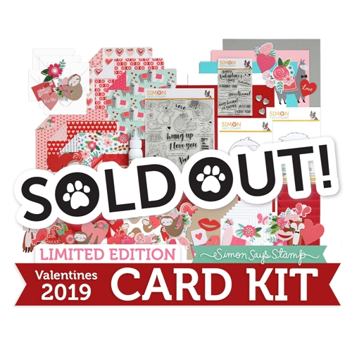 Limited Edition Simon Says Stamp Card Kit VALENTINES 2019 sssvck19 Preview Image