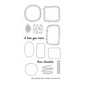 Impression Obsession Clear Stamps CHOCOLATE BUILDER WP898