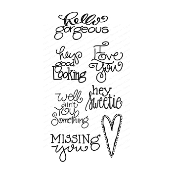 Impression Obsession Clear Stamps LOVE WORDS WP899